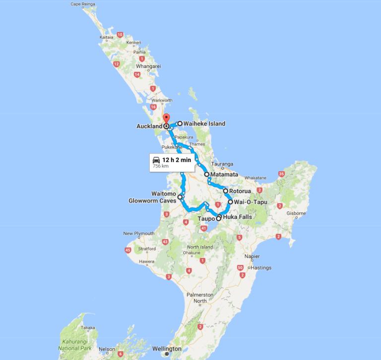 northislandroutmap